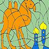 Solo cammello nel deserto colorazione gioco