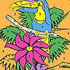 Solo pappagallo sulla colorazione albero gioco