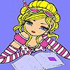 Ann presso la colorazione di biblioteca gioco