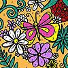 Colorazione di giardino di fiori assortiti gioco