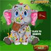 Cura del bambino elefante incidente gioco