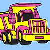Grande camion di immondizia colorazione gioco