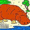 Grande lontra nella colorazione fiume gioco