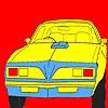 Grande ovest ruota auto da colorare gioco