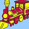 Grande esercito treni da colorare gioco