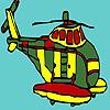 Colorazione di grande elicottero militare gioco