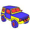 Colorazione di giungla grande jeep gioco