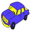 Colorazione blu auto speedy gioco