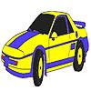 Colorazione blu auto classico gioco