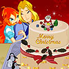 Torta di Natale cielo di fioritura gioco