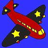 Colorazione dell'aeroplano ali nere gioco
