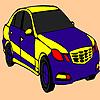 Colorazione blu auto veloce gioco