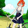 Fioritura biciclette moda gioco