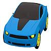 Colorazione auto città blu gioco