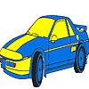 Colorazione di auto di lusso blu gioco