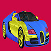 Brillante colorazione auto di due colori gioco