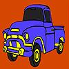 Colorazione di camion di costruzione gioco