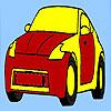 Auto in parco da colorare gioco