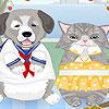 Gatto cane vestire gioco