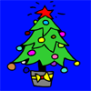 Colorazione di albero christhmas gioco