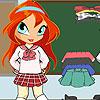 Chibi Bloom scuola ragazza gioco