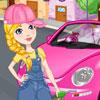 Pulire il mio nuovo scarabeo rosa gioco