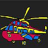 Colorazione di variopinti elicottero militare gioco