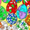 Uova di Pasqua da colorare 1 gioco