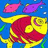 Pesci colorati da colorare gioco