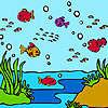 Variopinto oceano pesci da colorare gioco