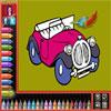 Libro di coloritura - automobili gioco