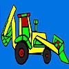 Colorazione trattore villaggio variopinto gioco