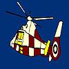 Colorante elicottero volante gioco