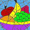 Variopinti frutti da colorare gioco