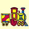 Treno colorato da colorare gioco