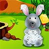 Cura di giorno simpatico coniglietto gioco