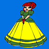 Carino piccolo principessa da colorare gioco