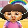 Carina ragazza naso medico gioco