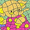 Elefante in abito rosa da colorare gioco
