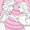 Elsa e Anna congelati da colorare gioco