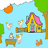 Farm and horses coloring gioco