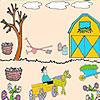 Agricoltore nella colorazione giardino gioco