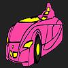 Veloce futuristico auto colorazione gioco