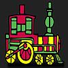 Treno rosso veloce da colorare gioco