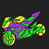 Affascinante e veloce moto da colorare gioco