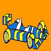 Corse a strisce veloce auto colorazione gioco