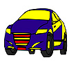 Colorazione auto veloce blu modello gioco