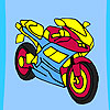 Fast racer motorbike coloring gioco