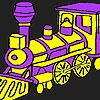 Treno veloce viola da colorare gioco