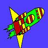 Missile veloce di colorazione spazio gioco
